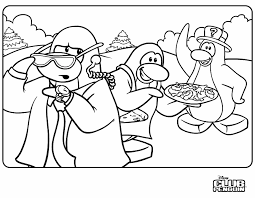 Great Club Penguin Coloring Pages 35 With Additional Site