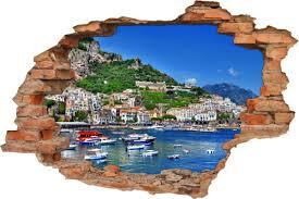 wand bild er wohnzimmer italienisch deko wand 3d wand aufkleber wand durchbruch yacht hafen residenz italien ische riviera