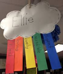 Rainbow Poems Cute Idea Have All The Kids Write Their Names In Little Papers
