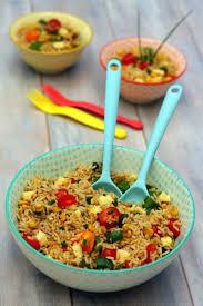 de cuisine thailandaise salade de riz sauté à la sauce soja façon thaï amandine cooking
