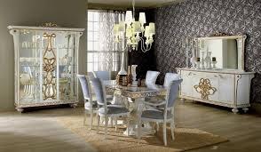 vitrine 3 trg desere weiss gold luxus esszimmer ebay