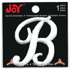 Shop for the Joy Monogram White Iron Embroidery Letter