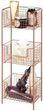 mdesign freistehendes badregal aus metall rostfreies badezimmer regal mit 3 körben für handtücher shoo und seife auch zur küchenaufbewahrung