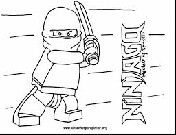 Outstanding Lego Ninjago Coloring Pages Printable With Page And Kai