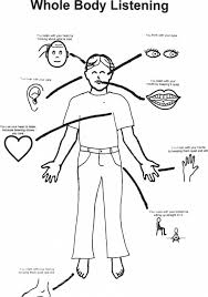 Body Parts For Kids Coloring Pages 4