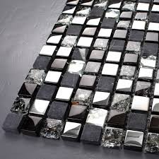 crackle mosaic silver plating glass tile
