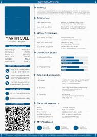 Page CV Blue Scheme Awesome 1 Resume Template