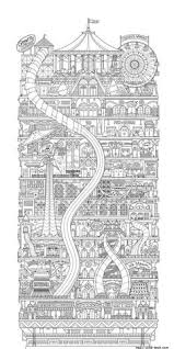 Coloring Pages For Adults Houses