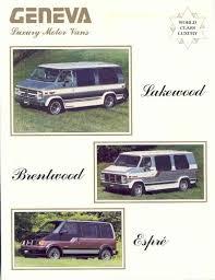 Found On Ebay 1989 Geneva Luxury Motor Vans Lakewood Espre Conversion Van Brochure