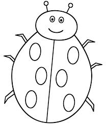 Letter L Ladybug Coloring Page