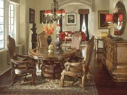 Ortanique Round Glass Dining Room Set by Tuscan Dining Room Table And Chairs Lavish Home Design Home