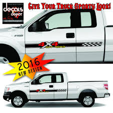 100 Truck Bed Decals 4x4 Off Road Black Set For Ford F150 And Super
