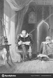 William Shakespeare 1564 1616 Engraving 1800S English Poet ...