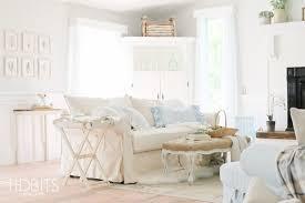 Cottage Livingroom Living Room Update White Cottage Style Tidbits