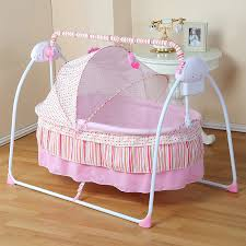 Baby Cradle Newborn Crib Bed Basket Small Shaker Electric Bouncer