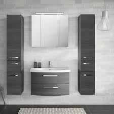 badezimmer komplett set fes 4010 60 mit 80cm keramik waschtisch spiegelschrank inkl led 2 hochschränken