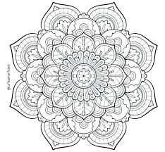 Online Mandalas Coloring Pages Flower Mandala Adult Free Printable A Co