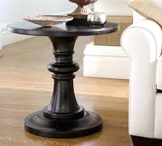 side table Black Pedestal Side Table Endearing Round Accent