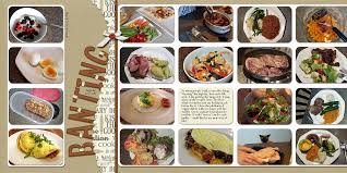 scrapbooking cuisine scrapbook design ideas for two page layouts with grid foundations