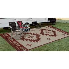 Reversible Patio Mat 8 X 16 by Outdoor Reversible Patio Rv Mat 6ft X 9ft U2014 Navajo Breeze