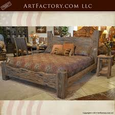 Rustic King Bed Western Style Wood