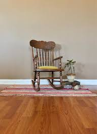Child's Rocking Chair Vintage / Wooden Childs Rocker / Childs Wooden  Rocking Chair / Vintage Wooden Rocking Chair