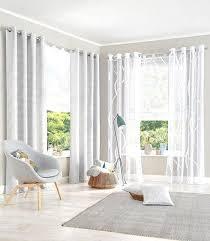 schick wohnzimmer gardinen mit balkontür design