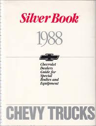100 Dealers Truck Equipment 1988 Chevrolet Silver Book Special Dealer Album