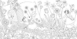 Secret Garden Treasure Hunt And Coloring Book Relieve Stress Kill