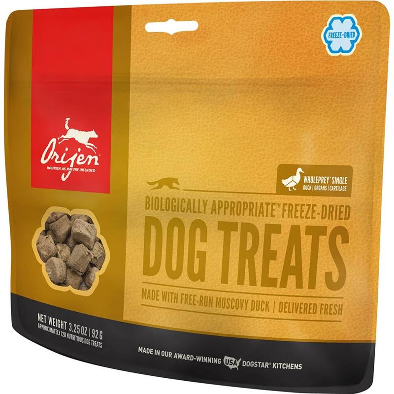 ORIJEN Free-Run Duck Freeze-Dried Dog Treats 3.25 oz