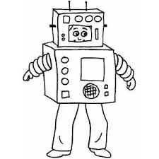Robot Costume Coloring Page