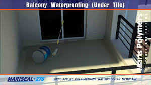 balcony waterproofing tile 270