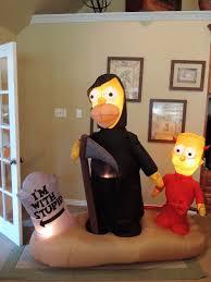 Gemmy Inflatables Halloween by Image Gemmy Inflatable Simpsons Halloween Graveyard Scene Jpg