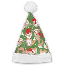 Amazoncom Cartoon Christmas Fox Xmas Party Santa Costume Hat