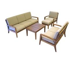 Amazonia Teak Patio Furniture by Ohana Teak Patio Furniture 4 Seater Conversation Set With Cushions