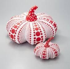 Yayoi Kusama Pumpkin Sculpture by Soft Sculpture Balloon Pillow White Small Yayoi Kusama