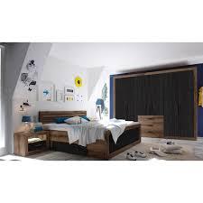 3 tlg schlafzimmer set trefann modernmoments farbe schwarz braun