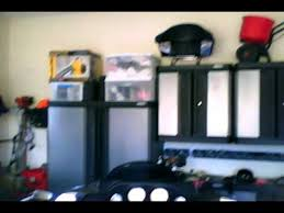construction and garage w kobalt cabinets gladiator hangers