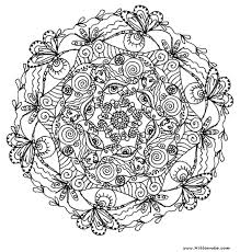 Hard Flower Coloring Pages Center Yourself With Mandalas Free For Kids