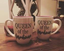 Queen Of The Farmhouse Coffee Cup Mug Great Gift Perfect For Rustic Country Kitchen Decor