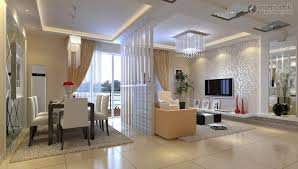 FurnitureDecorative Room Divider Ideas With Living And Dining Table Also Chandelier Decorative