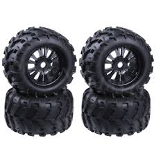 100 Nice Truck Rims 4Pcs 32 Rubber RC 18 Monster Wheels Tires 150mm For 17mm