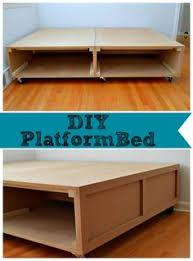 homemade platform bed with storage finest pallet platform bed