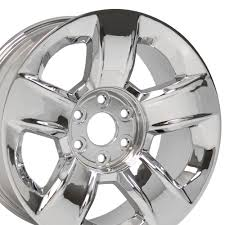 100 Oem Chevy Truck Wheels 20 Wheel Fits Silverado CV79 20x9 Chrome OEM Hollander 5651