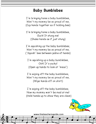 babybumble bee lyrics printout Kids Stuff Pinterest