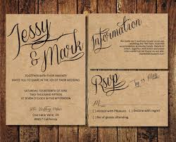 Items Similar To Rustic Wedding Invitation Suite Kraft Paper Calligraphy Invite Digital PDF Personalised Casual Simple On Etsy