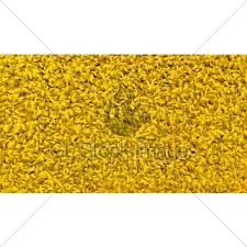 Closeup Of Bright Yellow Carpet Texture