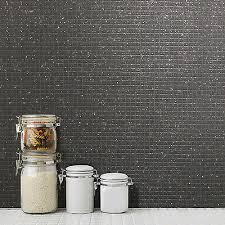 mosaik kachel schwarz glitzer tapete küche und badezimmer