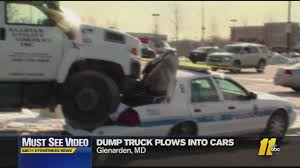 100 Dump Trucks Videos MustSee Truck Driver Intentionally Crushes Police Cars