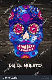 Easy Sugar Skull Day Of by Vector Sugar Skull On Wooden Background Stock Vector 327464363